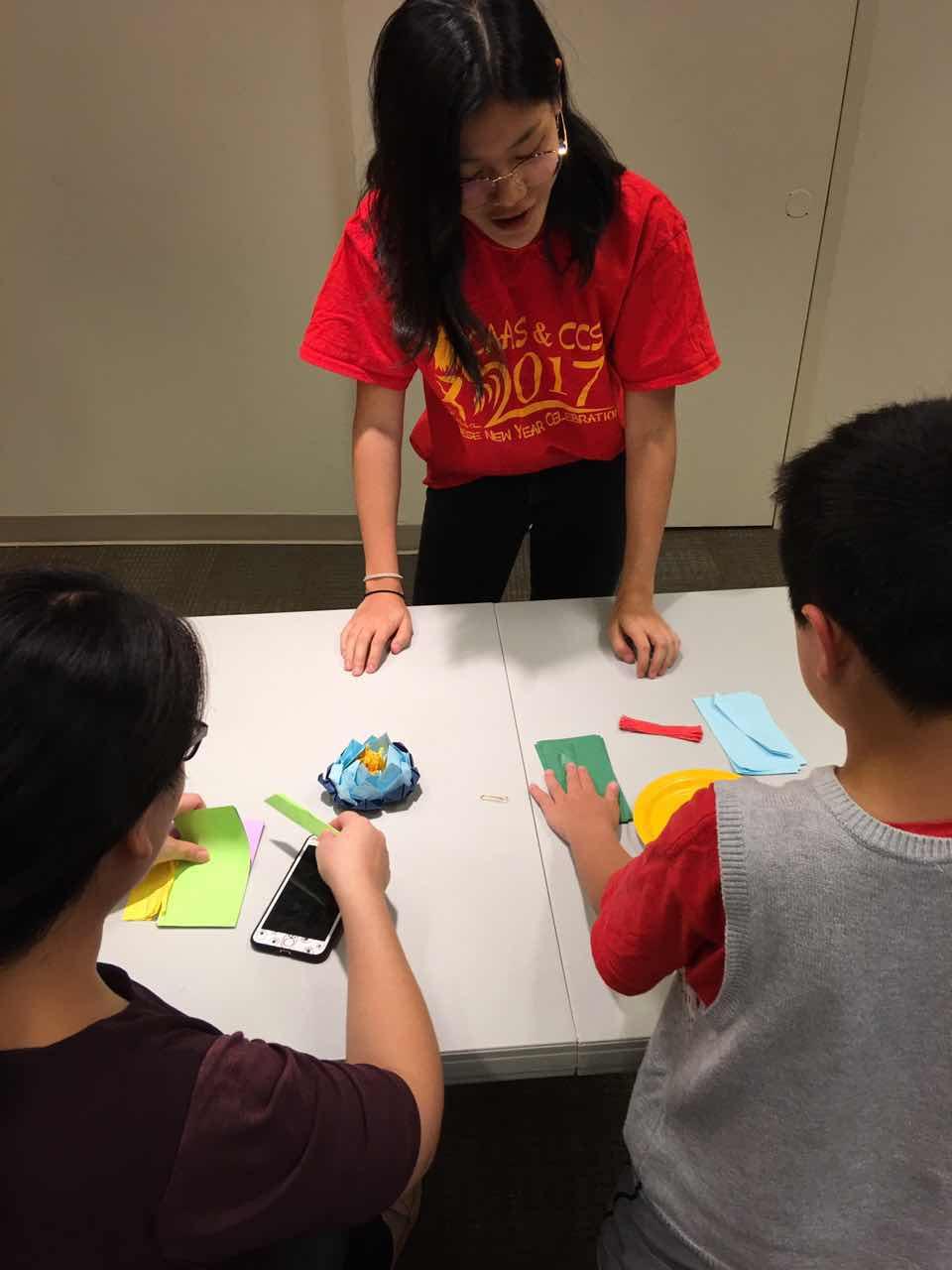 Volunteer helping kids