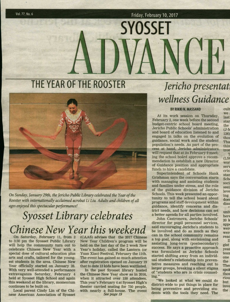 SyossetLibrary 2nd article